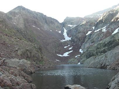 Passage à l'Etang du Montcalm 2557 mètres