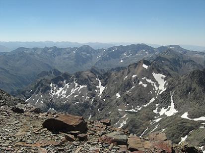 Panorama depuis le sommet du pic du Montcalm 3077 mètres