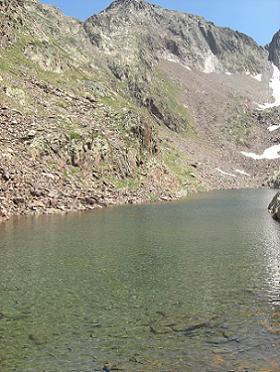 Retour par l'Etang du Montcalm 2557 mètres
