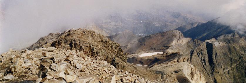 Panorama du sommet du pic de Campbieil 3173 m