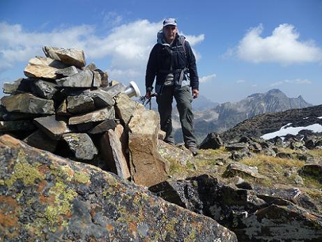 Au sommet du pic ou Pale de Crabounouse 3021 m
