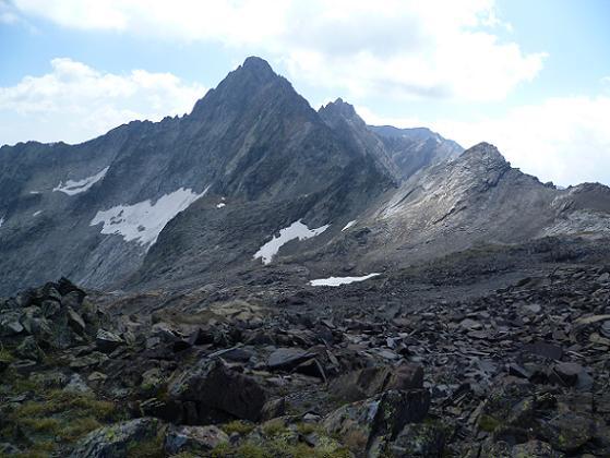 Du pic ou Pale de Crabounouse 3021 m, le pic Long et le pic Badet