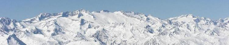 Le massif Aneto Maladeta depuis le Tuc de Baciver