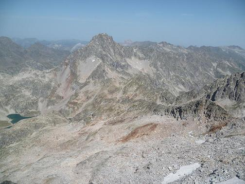 Du sommet de la Frondella Occidental 3001 m, le pic Palas