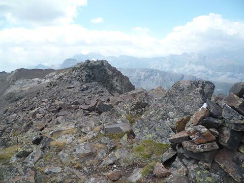 Repassage au sommet du pic ou Pale de Crabounouse 3021 m