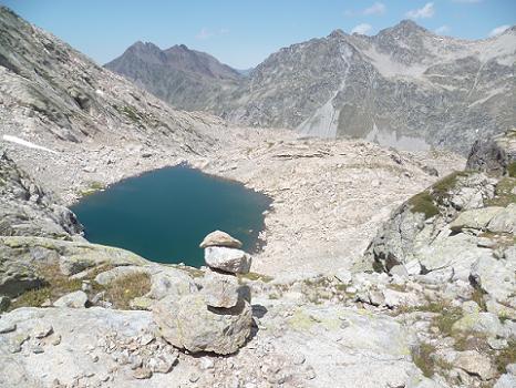 Repassage près du lac coté 2583