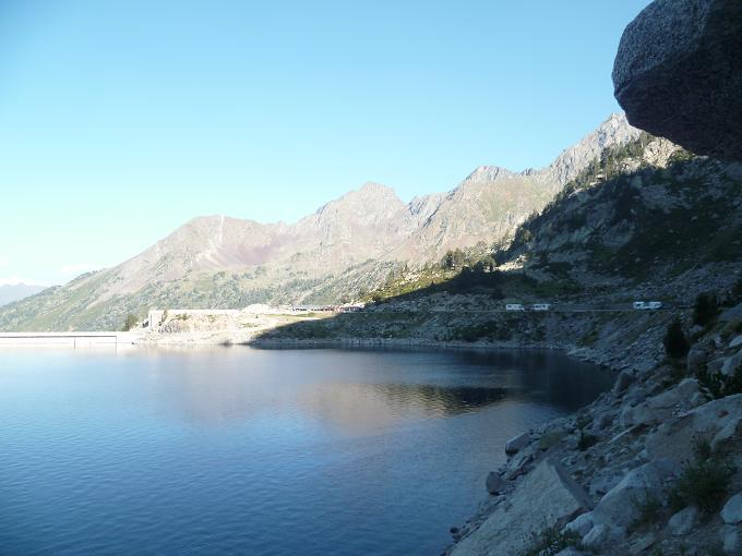 Retour vers le barrage du lac de Cap de Long