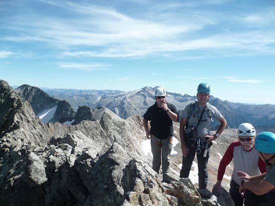 Au sommet du pic des Crabioules Occidental (3106 m)