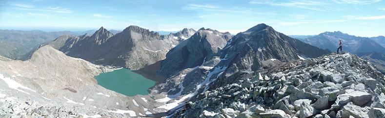 Du pic du Seil de la Baque (3110 m), Tusse de Montarqué, Quayrat, Lézat, Crabioules, Perdiguère et Aneto