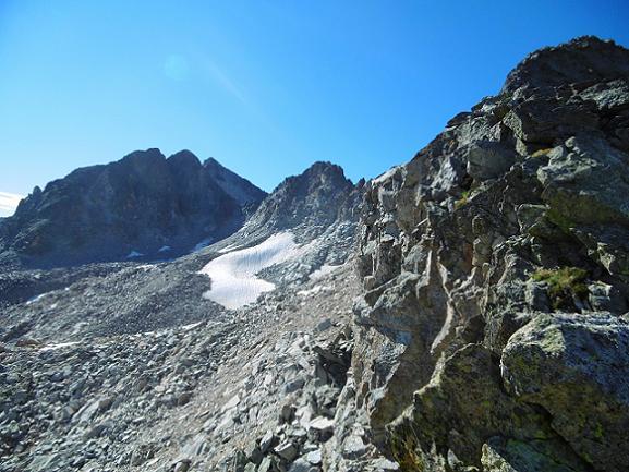 Remontée Sud de la crête Nord du pico de Alba