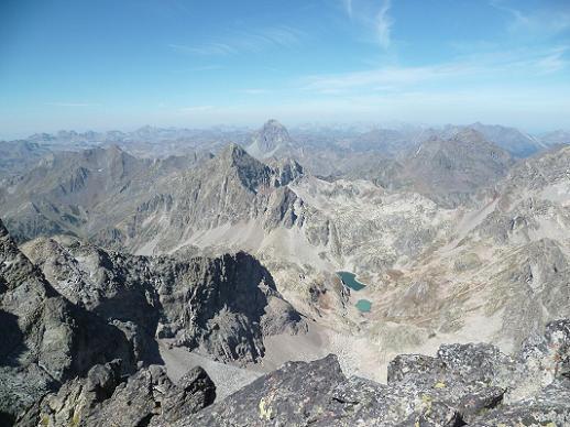 Du sommet de la Aguja Cadier 3022 m, Aspe, Ossau, Arriel et Lurien