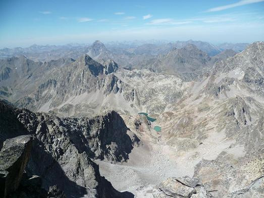 Du qommet de la Frondella Norte 3062 m, Ossau, Arriel, Lurien et Palas