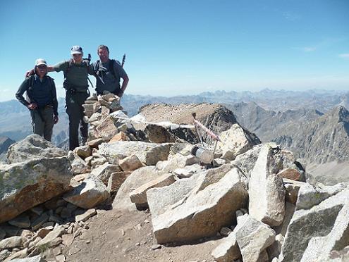 Au sommet du pico de la Frondella 3071 m