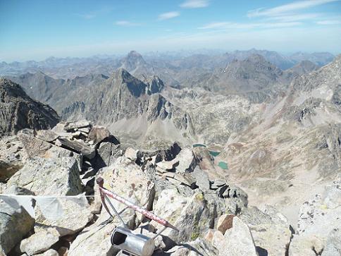 Du sommet du pico de la Frondella 3071 m, Visaurin, Ossau, Arriel, Lurien et Palas