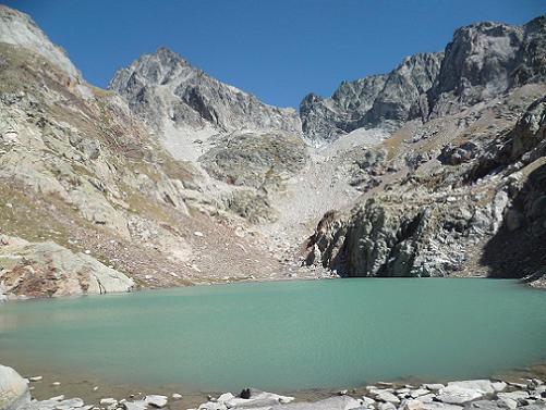 Du Gorg Helado 2404 m, le Balatous, la Aguja Cadier et les Frondellas