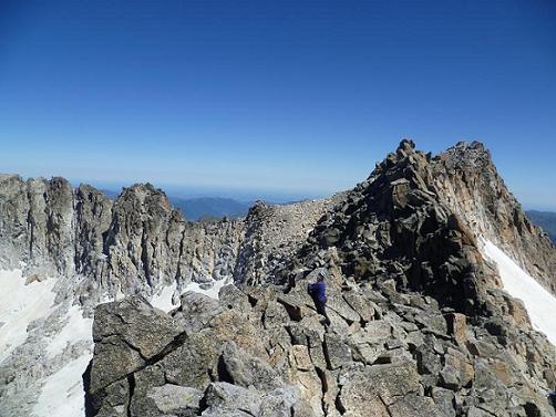 Du sommet du pico Abadias 3279 m, le pico de la Maladeta