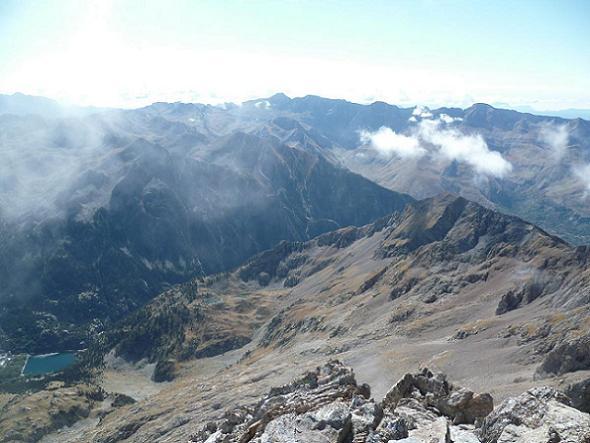 Du sommet de la Aguja de Pondiellos 3011 m, Tendenera, Sabocos et Balneario de Panticosa