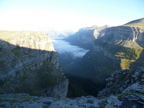 Depuis la Fajeta de Ciarracils, regard derrière vers la valle (vallée) de Ordesa