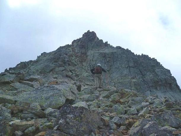 Arrivée sous le sommet du Grand Quayrat Nord