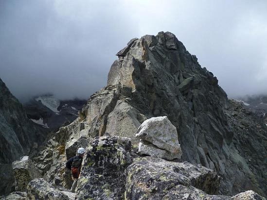 Passage au sommet du Grand Quayrat Nord (3046 m)