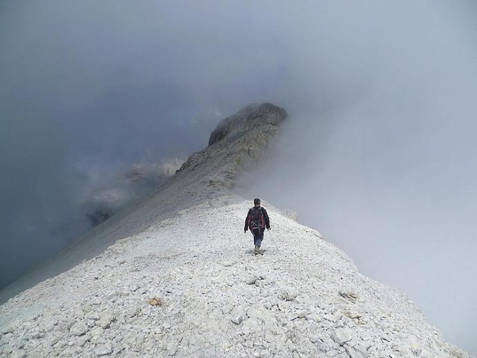 Progression, vers le sommet de la Punta de las Olas