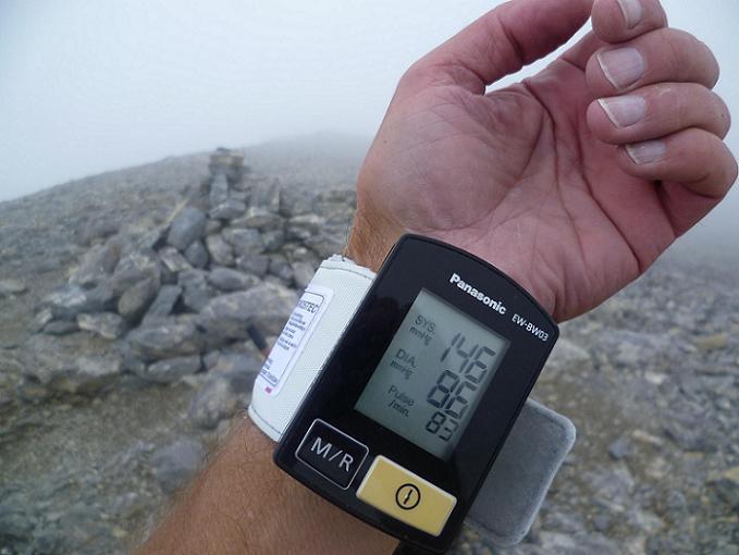 Petit `contrôle technique` avant de quitter le sommet de la Punta de las Olas