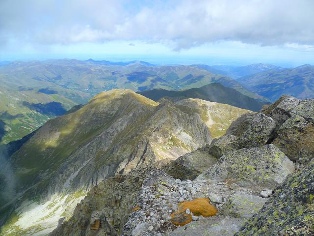 Du sommet du Grand Quayrat (3060 m), la crête Nord