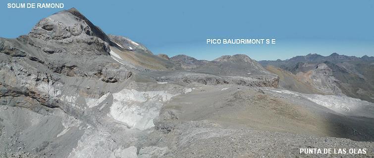 De la Punta de las Olas, le Soum de Ramond et le pico Baudrimont S E, prochains objectifs