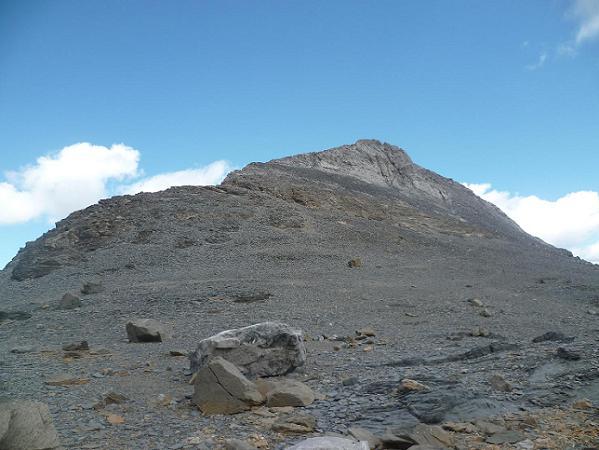 Arrivée à la base du pico Baudrimont S E ou pico Navarro