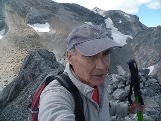 Arrivée au sommet du pico de Baudrimont S E ou pico Navarro 3026 m