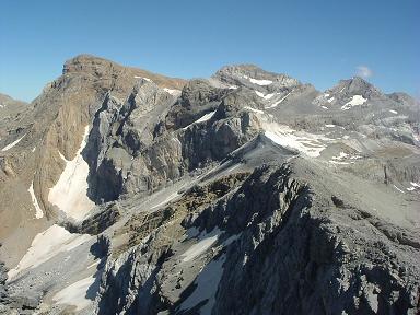Du sommet de la Tour du Marboré, Marboré, Cilindro et Monte Perdido
