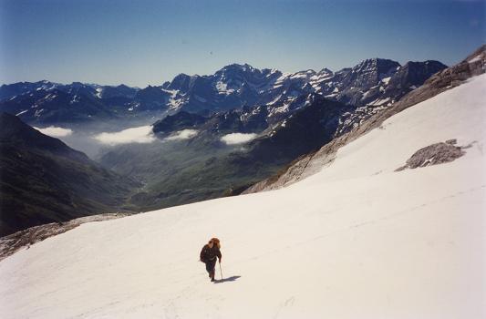 Du glacier d'Ossoue, le massif de Gavarnie Monte Perdido
