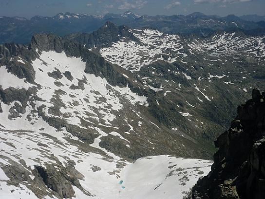 Du sommet du pic de Comaloforno 3033 m, la Punta d`Harlé