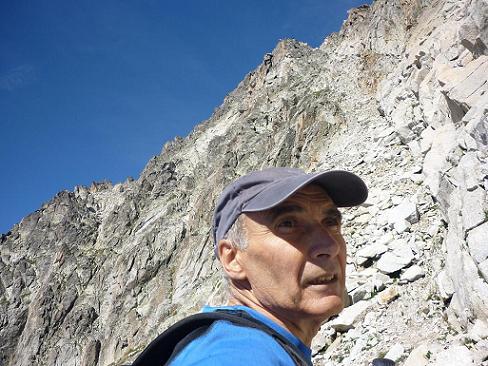 Portion raide de la diagonale Sud qui donne accès au pico Russell