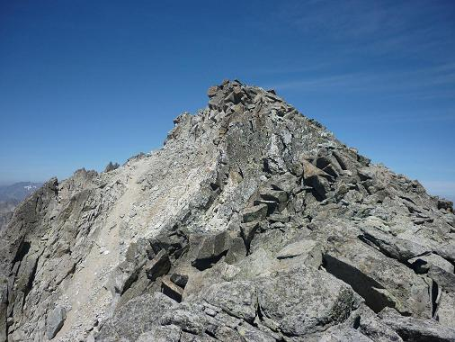 Sur la crête, non loin du sommet de l`Antecima Sur Este Russell