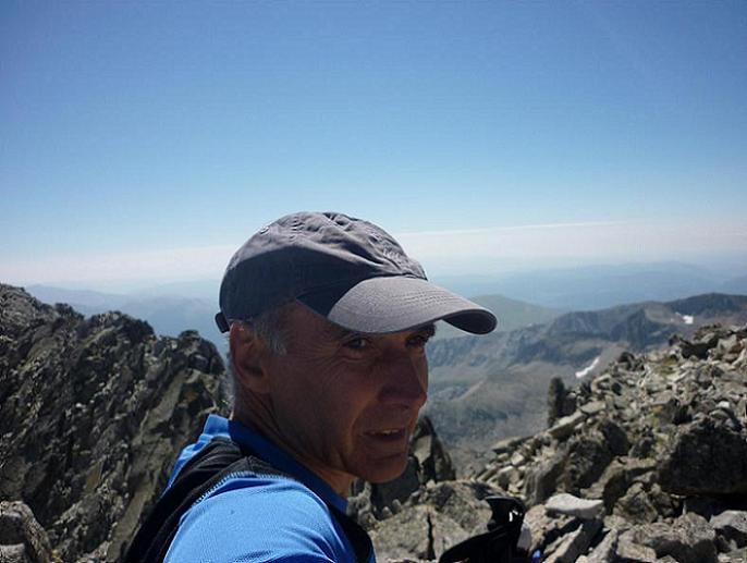 Arrivée au sommet du pico Russell 3207 m