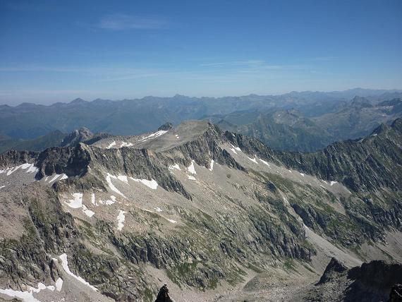 Du sommet du pico Russell 3207 m, le Tuc de Mulleres