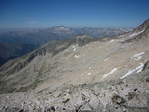 Du sommet du pico Russell 3207 m, le Posets, Schrader et Perdiguère