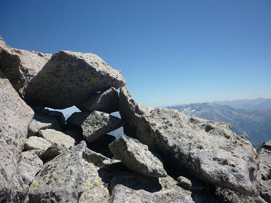 Sur la crête qui mène au sommet de la Punta de la Brecha Russell