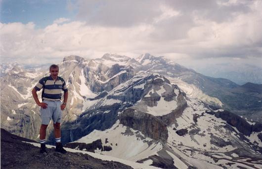 Du sommet du Taillon, Marboré et Monte Perdido