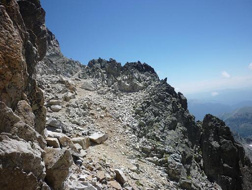 En allant du pico Russell vers l`Antecima Sur Este Russell