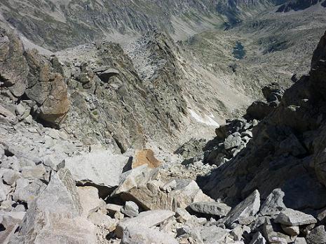Après une erreur de couloir, retour dans la diagonale Sud du pico Russell