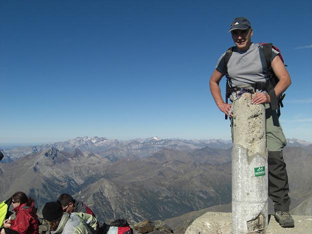 10 heures 30, arrivée au sommet du pico Posets ou Tuca de Llardana 3375 mètres