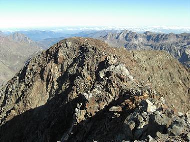 Du sommet du pico Posets, l'antécime Nord