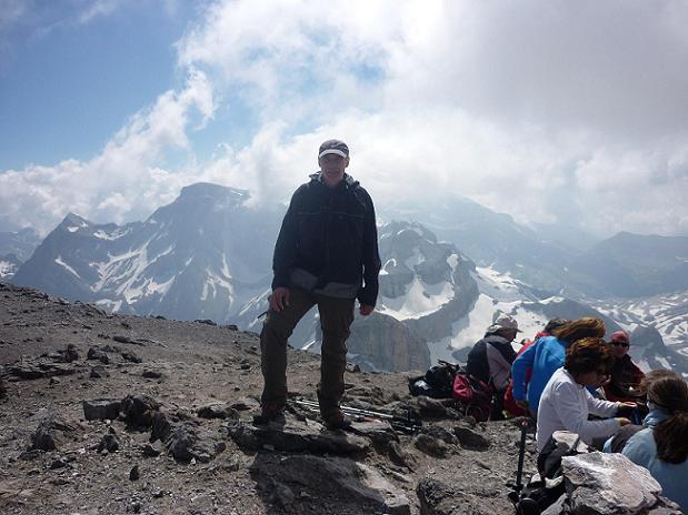 Arrivée au sommet du Taillon 3144 m