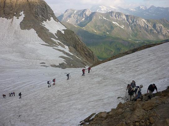 Arrivée au col des Sarradets 2589 m