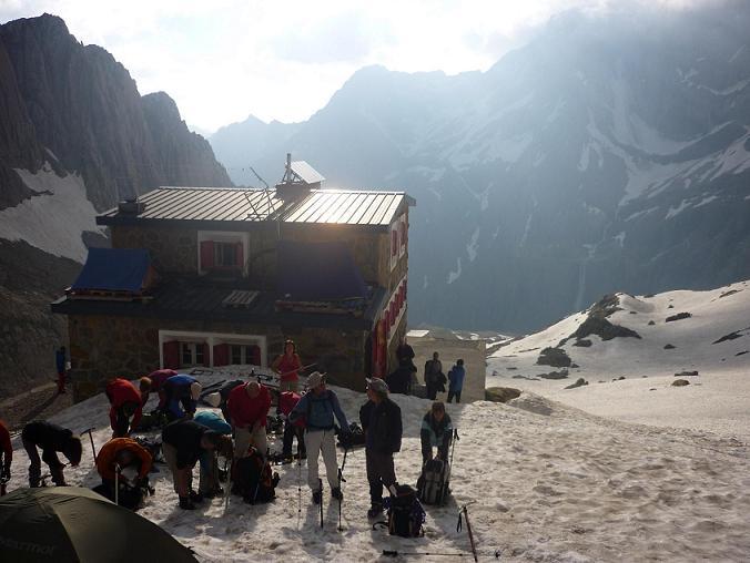 Cramponnage près du refuge des Sarradets 2587 m