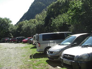 14 heures 30, retour à la voiture sur l'aire de stationnement d'Espigantosa