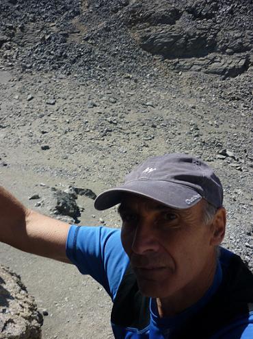 Escalade dans la cheminée de gauche du Cilindro del Marbore