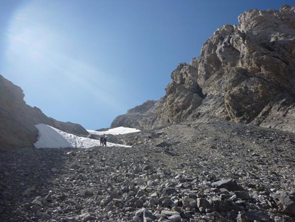 Descente du couloir Est du Cilindro del Marbore